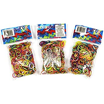 5032a821 Amazon.com: Loom Rubber Bands - 4800 pc Rubber Band Refill Value ...