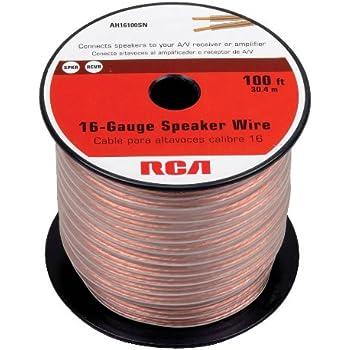 Amazon rca ah16100sr 100 ft 16 gauge speaker wire home rca ah16100sr 100 ft 16 gauge speaker wire keyboard keysfo Choice Image