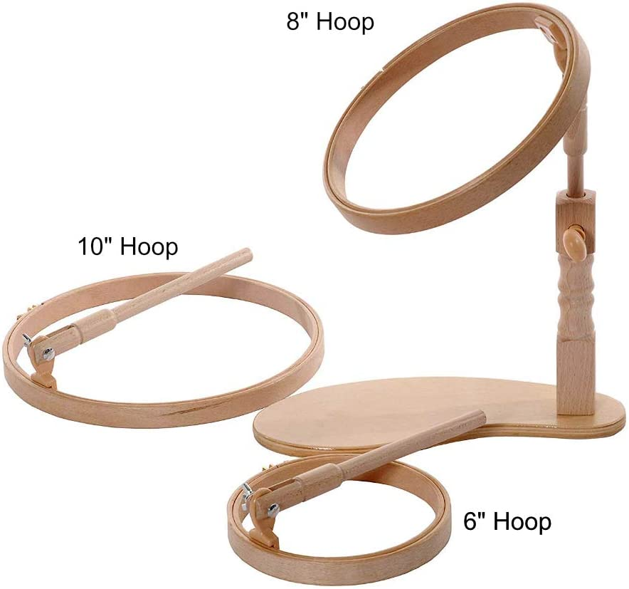 "Elbesee Cross Stitch Wooden Embroidery Craft Hoops Sizes 3/"" to 12/"" UK Product"