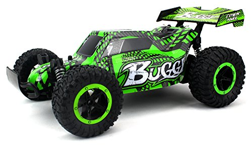 Cheetah King Remote Control RC Buggy Car 2.4 GHz PRO System 1:16 Scale Size RTR w/ Working Suspension, Spring Shock Absorbers (Colors May Vary) (Rc King Battery)