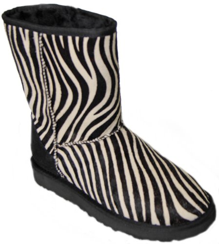 UGG Australia Classic Short Exotic Zebra Womens Boot Holiday (5) (Print Boots Zebra)