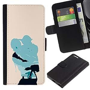 LECELL--Cuero de la tarjeta la carpeta del tirón Smartphone Slots Protección Holder For Apple Iphone 6 PLUS 5.5 -- Minimalista Estrella Guerra Yoda y Lucas --