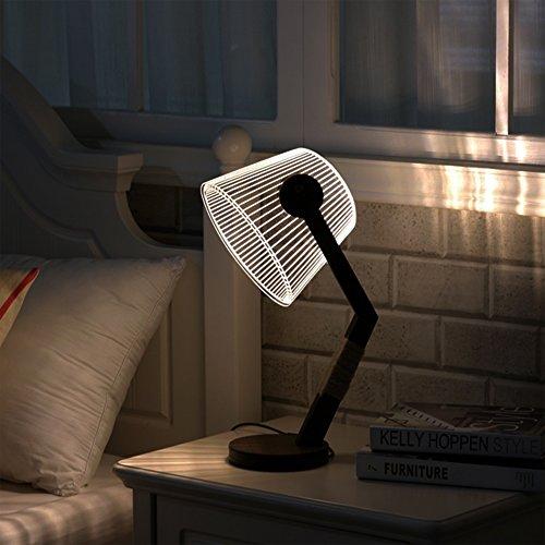Night Light Led Table Lamps For Bedroom 3d Led Desk Lamp Bedside
