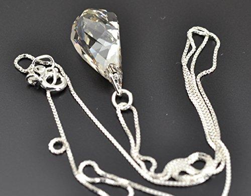 Argent 925 Collier avec 'Silver Shade' Swarovski Elements