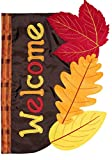 "Briarwood Lane Fall Leaves Applique Garden Flag Welcome Autumn 12.5"" x 18"""