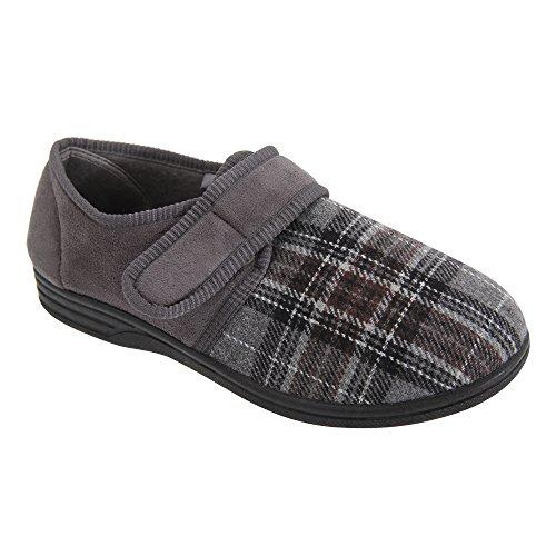 Zapatillas con tira adhesiva para hombre Negro