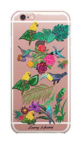 Tropical parrot palm tree leaf banana tree leaf plastic transparent see through plastic case / cover for Apple Iphone design made by LuxuryHunters ® (Iphone 7)