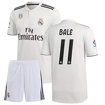 bf0716a4e8d 2018-2019 Bale # 11 Printed Real Madrid Half Sleeves Jersey for Shorts/Club