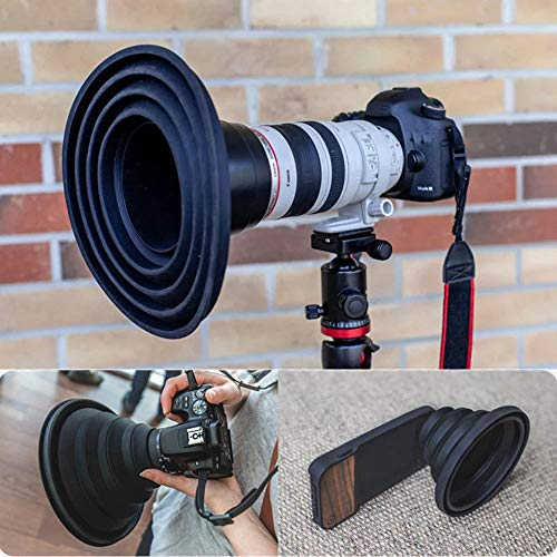 Ultimate Lens Hood Take Reflection-Free Photos Videos for Photographers (Large)