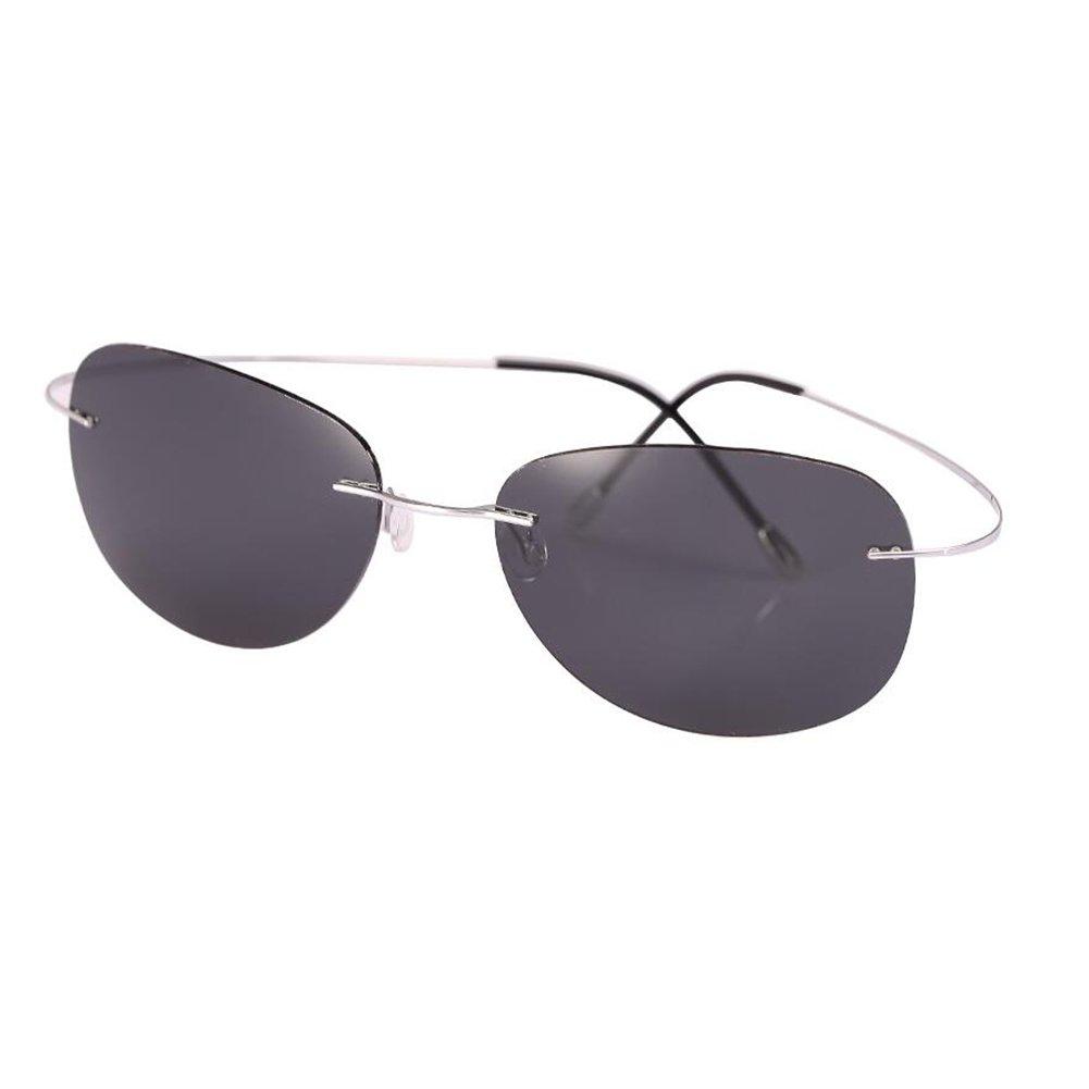 HONEY Ultraleichte 90% Titan Sonnenbrille - Polarisierte rahmenlose ...