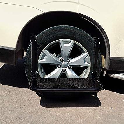 Pedal antideslizante del coche Escalera Portátil plegable del coche Escaleras de neumáticos de montaje Pasos for camionetas, camiones, SUV, coches de pedal antideslizante: Amazon.es: Coche y moto