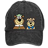 SLJD Unisex Yogi Bear and Boo Boo Bear Adjustable Baseball Caps Washed Hat