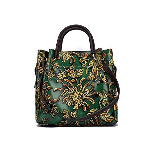 Bandoulière Green Sac AJLBT Chinois Fleurs Main La Dames à Mode De Sac Simple Rétro Style à Fait Style ZTqZfrFwW