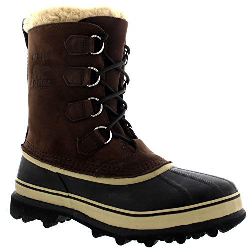SOREL Mens Caribou Fleece Lined Snow Mid Calf Winter Waterproof Boots - Bruno - 13/46