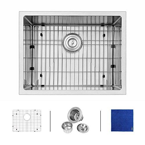 Enbol Sd2318 23 Inch Undermount Single Bowl 16 Gauge Handmade Stainless Steel Kitchen Bar Sink