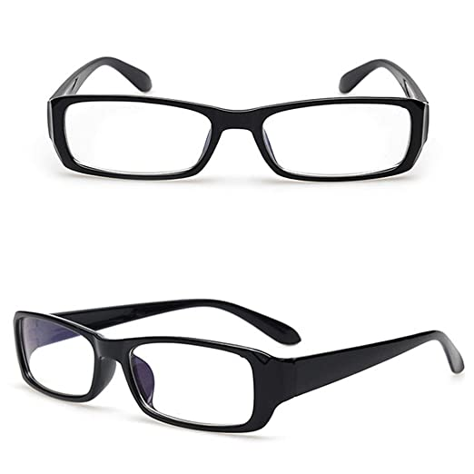 b65f558128 Qupida Men Or Women Clear Lens Designer Glasses Rectangular Retro Clear  Glasses Non-Prescription Eyeglass