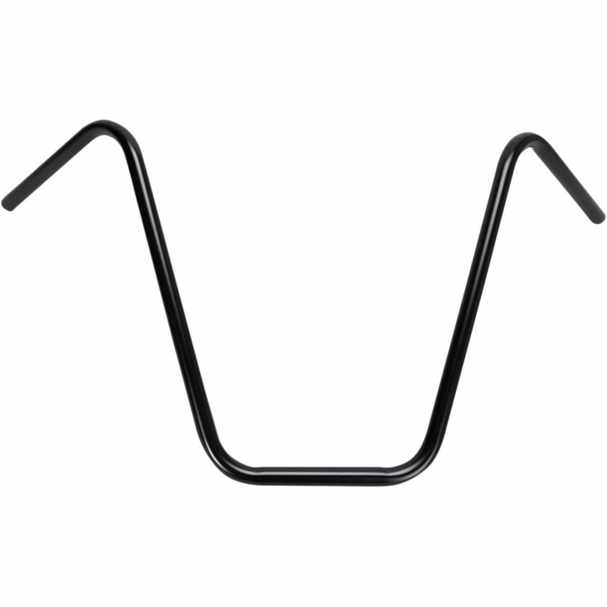 16' Ape Hanger 7/8' (22mm) Motorcycle Handlebars - Satin Black EMGO .