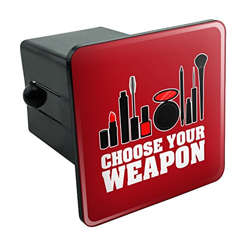 Graphics and More Choose Your Weapon Makeup Lipstick Eyeliner Brush Tow Trailer Hitch Cover Plug Insert 2