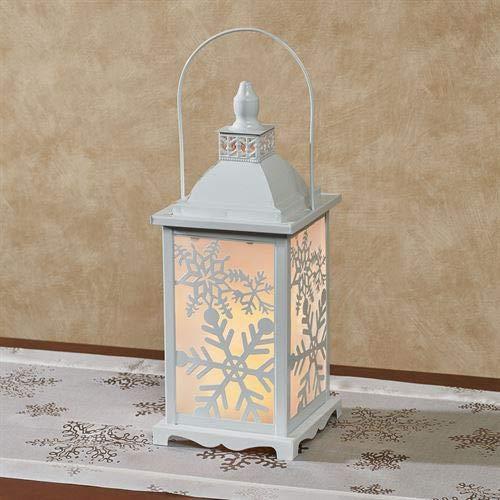 The Gerson Companies Snowflake LED Lighted Lantern White (Snowflakes Metal White)