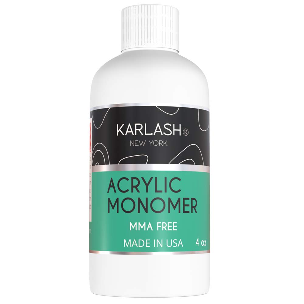 Karlash Professional Acrylic Liquid 4 oz Monomer MMA FREE for Doing Acrylic Nails, MMA free, Ultra Shine and Strong Nail