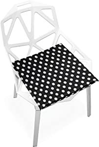 SLHFPX Seat Cushion Black White Polka Dot Chair Cushion Offices Butt Chair Pads Square Wheelchairs Mat for Indoor