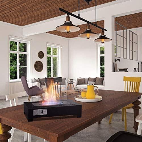 ステンレススチール製ポータブル卓上通気口なしバイオエタノール暖炉 テーブルトップと通気口なし暖炉は、どんなスペースにも暖かさと雰囲気を加えます。