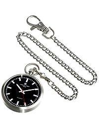 Charles-Hubert, Paris 3951-B Premium Collection Analog Display Japanese Quartz Pocket Watch