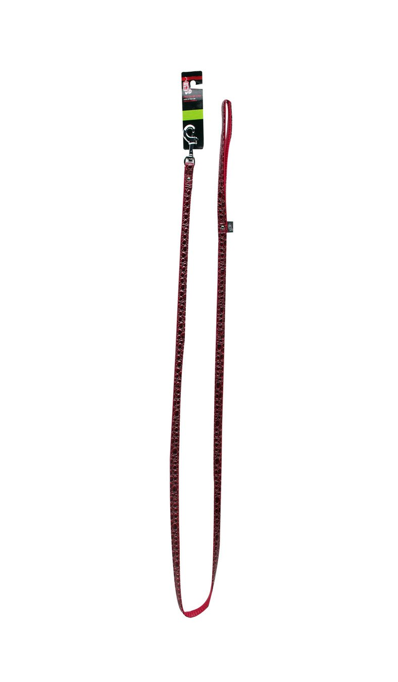 Dogit Style Ibiza X-Large Faux Leather Leash, 1-Inch by 6-Feet, Red