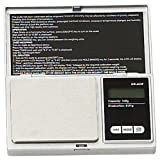 Mini Silver Digital Weighing Scale - Stainless Steel 500g X 0.01g, Modes Gm, Oz, Ct, Gn, Dwt, And Ozt. : ( Pack of 1 Pc ) Computer, Electronics