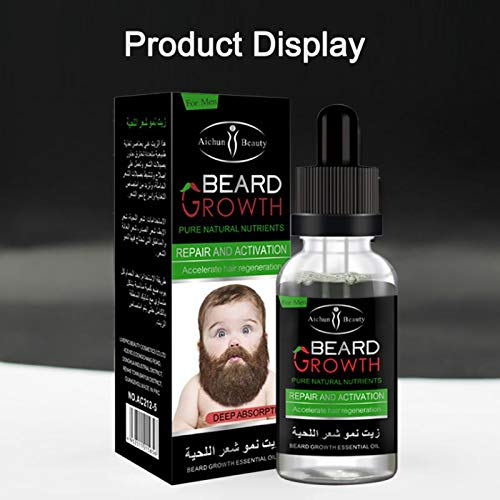 New Professional Men Beard Growth Enhancer Facial Nutrition Moustache Grow Beard Shaping Tool Beard Care Products To Prevent And Cure Diseases Hair Care & Styling Beauty & Health
