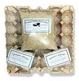 Cricket & Dubia Roach Colony Starter Kit - Includes 8 Egg Flats, Premium Dubia Roach Chow Cricket Food (1 lb), 2 Water Gel Granules (1 oz) | Raise Dubia Roaches Crickets (1- Pound Starter Kit)