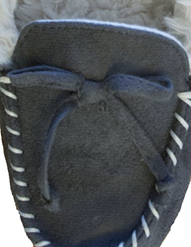 10 Fur Ash Microsuede Isotoner 5 Detail 9 Women's Moccasin 5 Trimmed Hilary Bow qwAwUWXP