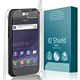 LG Connect 4G Screen Protector, IQ Shield Matte Full Coverage Anti-Glare Full Body Skin + Screen Protector for LG Connect 4G Bubble-Free Film - with