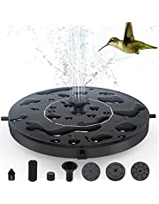 Solar Bird Bath Fountain Pump,Solar Fountain Pump with 4 Removable Nozzles and 3 Anti-Collision Bars,Free Standing Floating Solar Powered Water Fountain Pump for Bird Bath, Garden, Pond, Pool, Outdoor