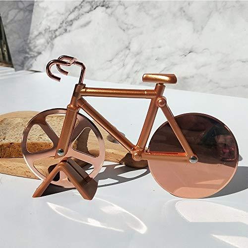 pizzasnijder, fiets pizzasnijder, dubbele wiel, super scherpe messen snijder – roestvrij staal, goud