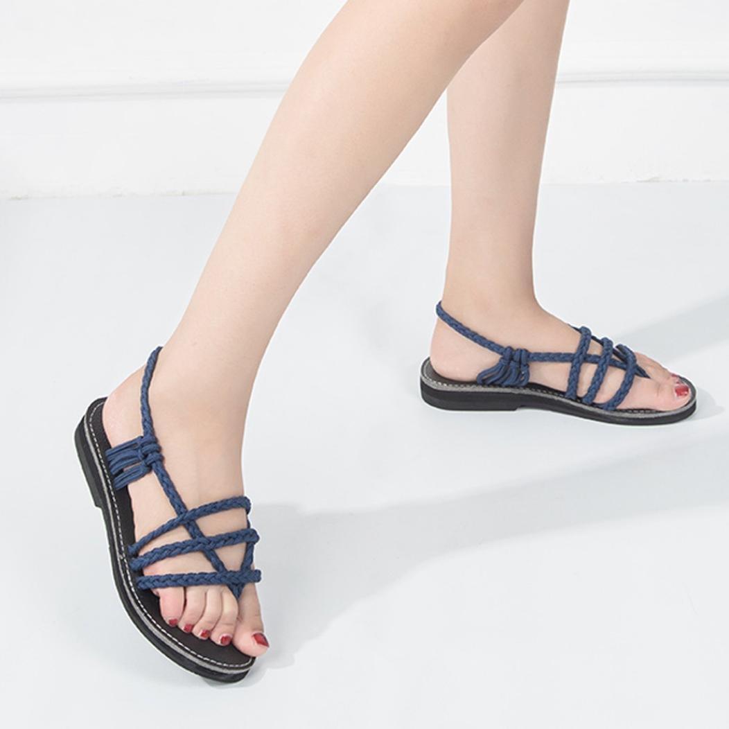 Sandalias mujer verano 2018, Covermason Zapatillas de verano para mujer Sandalias romanas cruzadas: Amazon.es: Ropa y accesorios