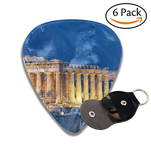 Grghtrghlsd Parthenon Acropolis Athens Night Landscape Classic Guitar Picks For Electric/acoustic Guitar,and Bass