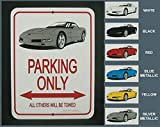 C5 1997-2004 Corvette Coupe Parking Only Sign (Blue)