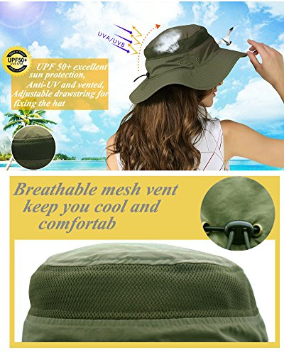 Outdoor Sun Protection Hat Wide Brim Bucket Hats UV Protection ... ea2f3a808ea1
