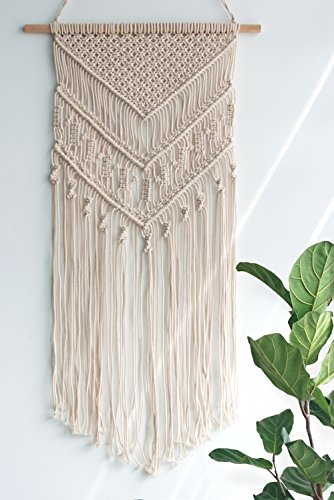 TIMEYARD Macrame Woven Wall Hanging - Boho Chic Bohemian Home Geometric Art Decor - Beautiful Apartment Dorm Room Decoration, 14
