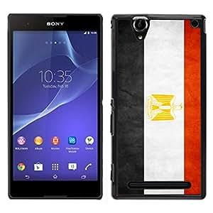 LECELL--Funda protectora / Cubierta / Piel For Sony Xperia T2 Ultra -- Nacional bandera de la nación País Egipto --