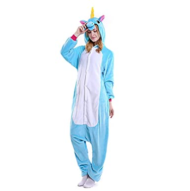 Amazon.com: Lemoncy Unicorn Onesie Pajamas Costume For Women Men Teens Adults For Christmas Costume and Sleepwear Pajamas Animal Outfit: Clothing