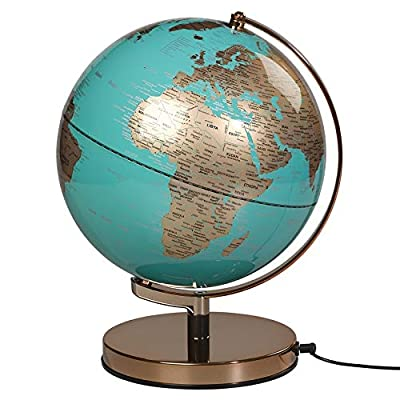 "Illuminated Geographic World 10"" Desk Globe with Stand, LED Lighting, and USB Plug: Office Products"