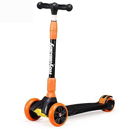 Patinete- Scooter para niños de 3 a 10 años de Edad 4 Ruedas ...
