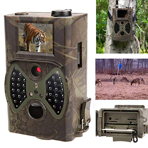 SODIAL HC-300A Scouting Hunting Camera 12mp 1080p Hd 940nm Infrared Wildlife Trail Camera 2inch Tft Display Screen (Pal Capture Security Ntsc Card)