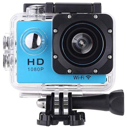Vemont Sports Action Camera WiFi 1080P Full HD 12MP Waterproof Cam 2.0 Inch Display 170 Degrees Wide Angle Lens Underwater Camera with Rechargeable Battery Mounting Accessories Kits