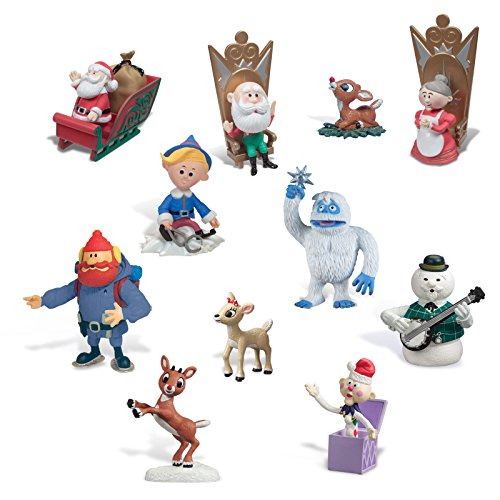 Forever Fun Rudolph The Red-Nosed Reindeer Ultimate Figurine Collection - 11 Figurines Included