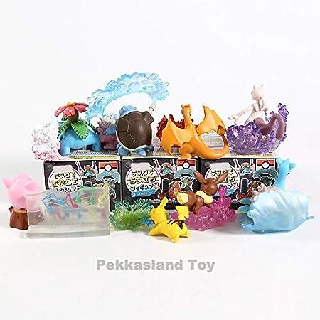 Amazon.com: EXTOY 8 Cm 8pcs/lote PVC japonés anime figura ...