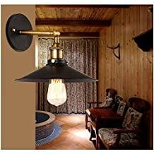 WNOSH Modern Industrial Edison Simplicity 1 Light Wall Mount Light Sconces Aged Steel Finished