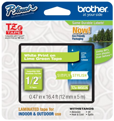 - Brother Genuine P-touch Tze-MQG35 Label Tape 1/2